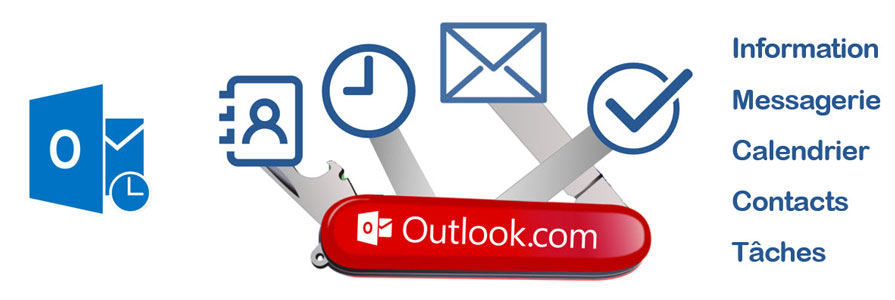 Outlook couteau Suisse de l'efficacité