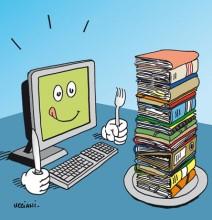 illustration du billet efficaciTIC sur la dématérialisation et gestion électronique de documents