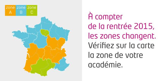 zones congés scolaires 2015-2016