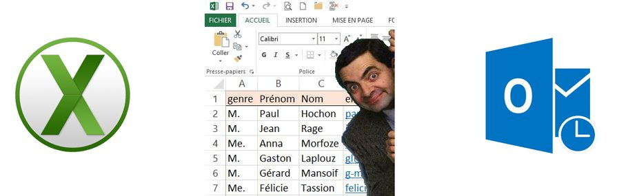gestion contact Excel vs Outlook