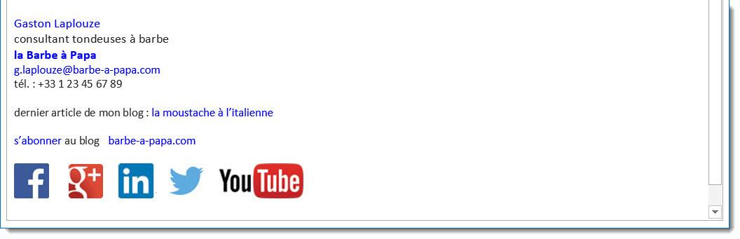 Bien connu Créer une signature mail professionnelle avec sa messagerie Outlook MV05