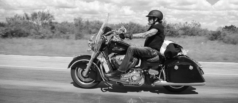 Johnny Hallyday motard
