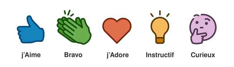 icônes LinkedIn j'aime